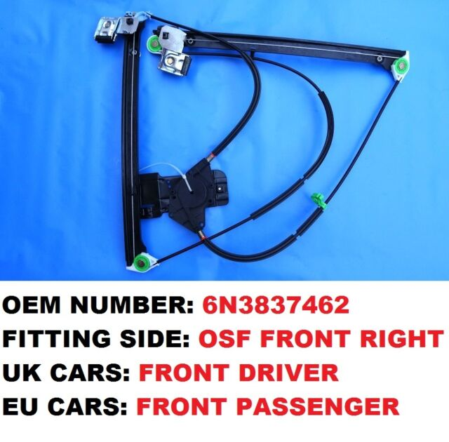 Front Right Driver Side Electric Window Regulator Mechanism