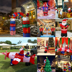 Christmas-Inflatable-LED-Light-Flying-Airplane-Reindeer-Electric-Blow-Up-Yard