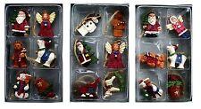 GISELA GRAHAM BOX OF 6 MINI NOSTALGIA CHRISTMAS XMAS DECORATION TREE ORNAMENTS