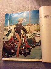 HONDA MONKEY BIKE CZ100 White Tank French in St.Tropez Magazine  - Rare France
