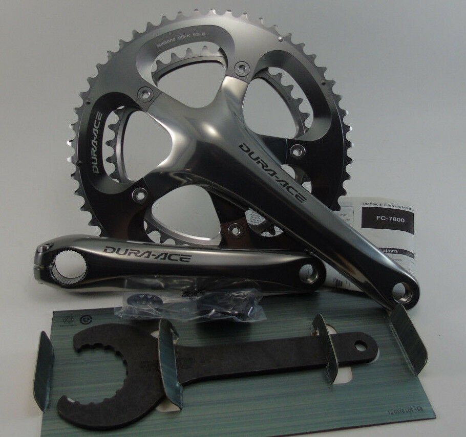 Genuine Nos  Shimano Dura-Ace Crankset, FC-7800, 39 53, 172.5mm, Brand New  the best selection of