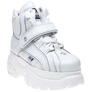 0 2 White 1348 Nouveau lacets en femmes cuir à Buffalo pour Bottes 14 fxBqwSfT
