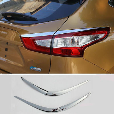 ABS Chrome Rear Tail Light Lamp Cover Trim 4pcs For NISSAN ROGUE SPORT 2017 2018