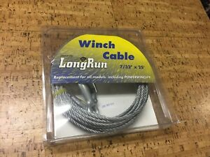 Boat Trailer Winch Cable 7//32 with hook 25/'