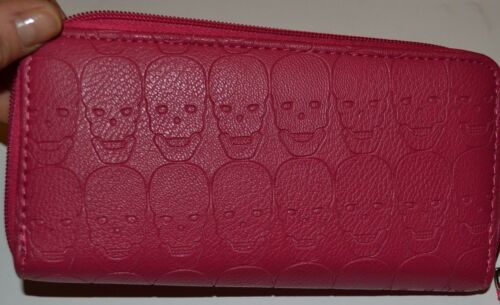 Skull Wristlet Style Wallet You Choose Design and Color Wrist Strap Purse