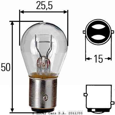 LAMPADE  A DOPPIO FILAMENTO 12V/ P21/5w  BAY15D BOX DA 10  PEZZI
