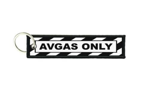 Keychain Key ring keyring avgas remove only flight aircraft before pilot tag