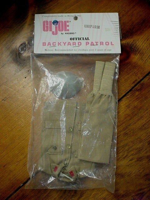 VINTAGE 1966 GI Joe Japanese SOTW Uniform Backyard Patrol  Hasbro MIP