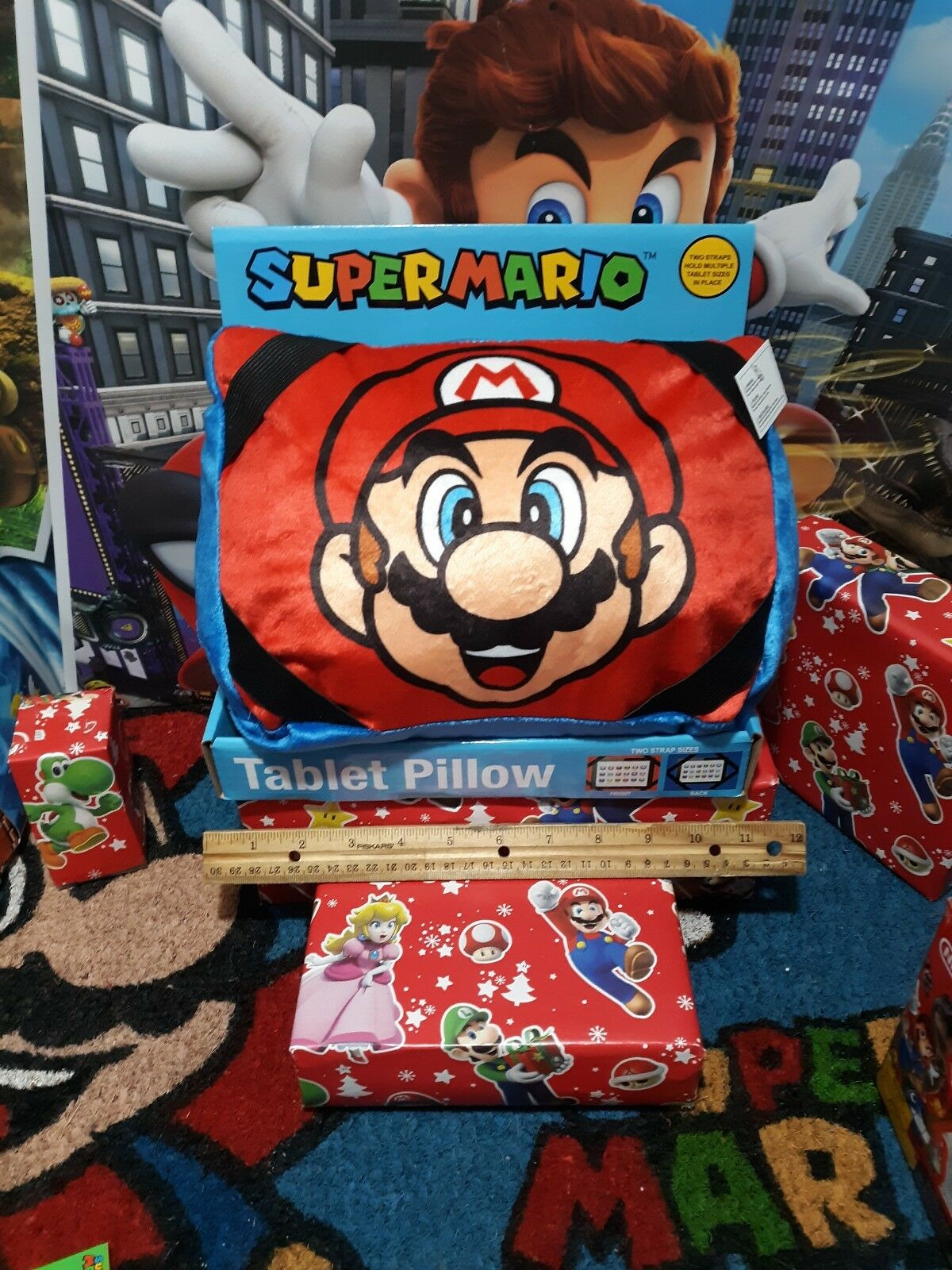 Super Mario Pillow Tablet To Strap Sizes