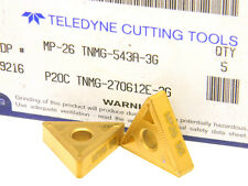 5 NEW SURPLUS TELEDYNE CARBIDE INSERTS TNMG 543A-3G MP-26  Tin Coated