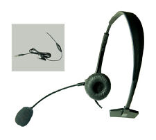 3.5mm Flex Operator Ear Cup Boom Mic Headset for Samsung Galaxy S5 / S4 / Note 5