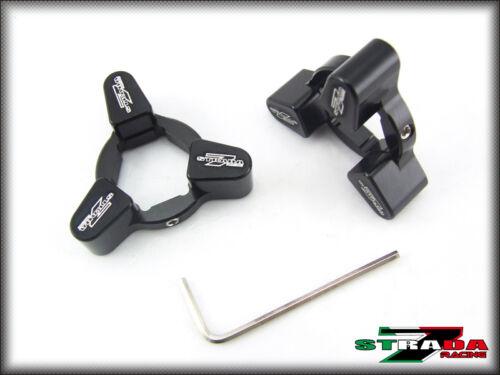 Strada 7 22mm Front Fork Pre-load Adjusters Honda CBR1000RR Black