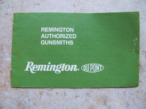Remington Authorized gunsmiths Manual Book