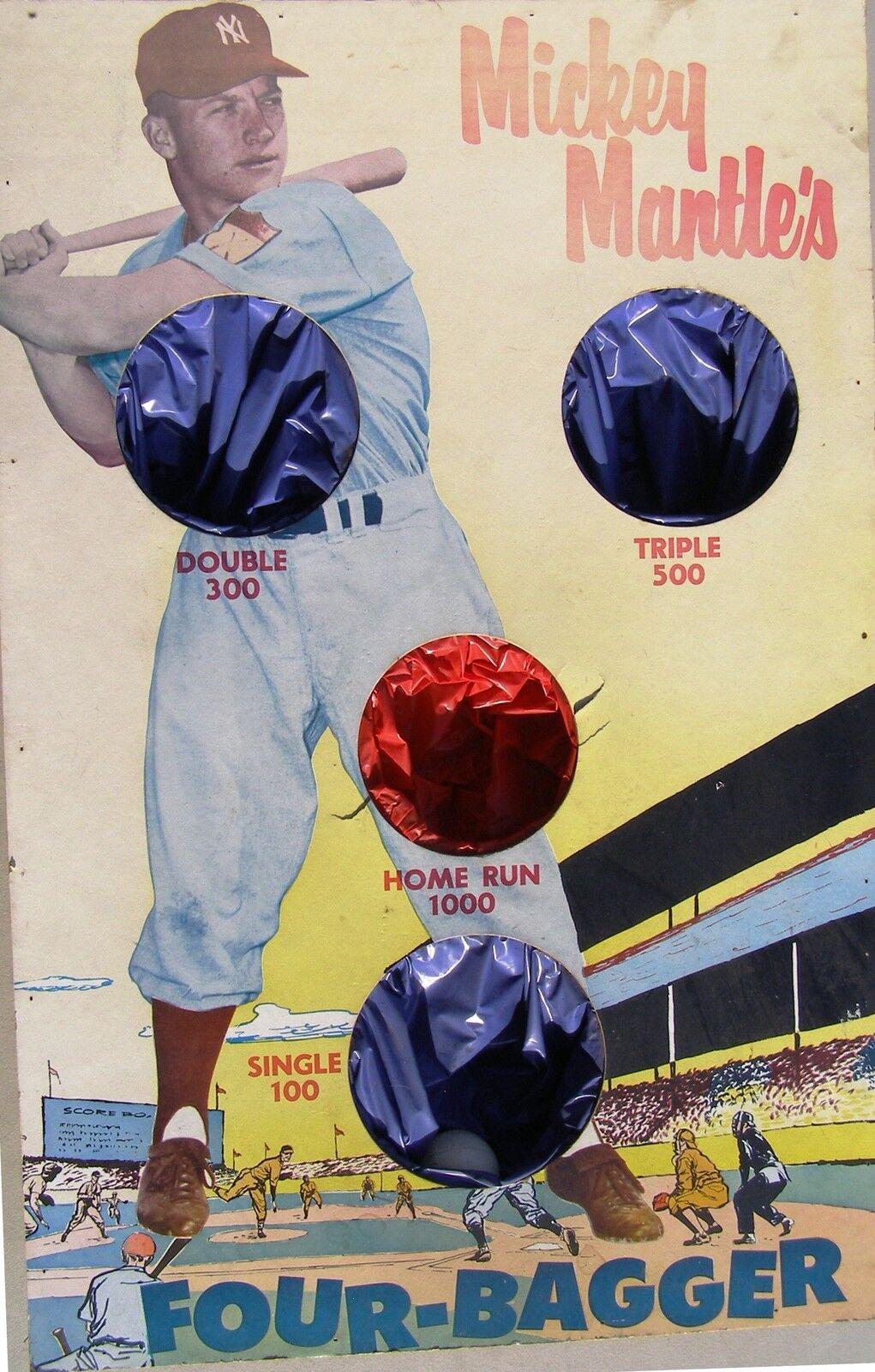 Mickey Mantle cuatro Embolsadora Bola Toss Juego, 1950