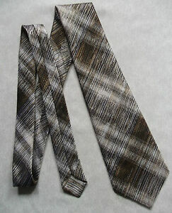 Vintage-Tie-Mens-Wide-Necktie-Retro-Fashion-ANDRE-JACQUES-TEXTURED-BROWNS