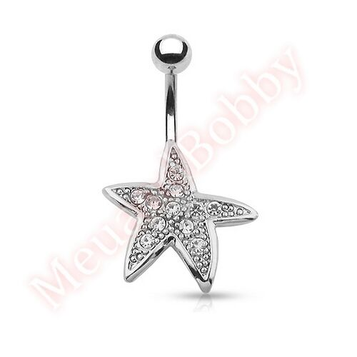 Starfish Slave Ring Butterfly Belly Button Bar Ring Navel Piercing Jewellery
