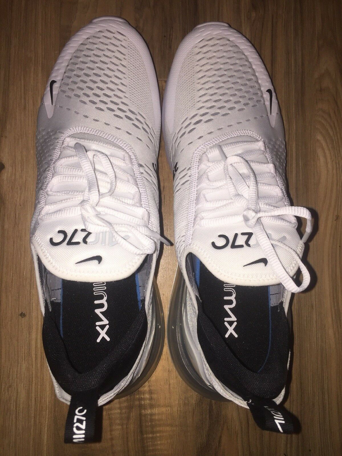 Nike Air Max 270 White Black Mens AH8050-100 shoes Size 13 Brand New DS