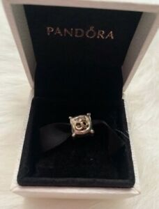 Details about PANDORA WEDDING RINGS - 2 RINGS ON PILLOW CHARM #790549D TWO  TONE 14k GOLD