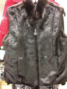 Vest 14 Medium 12 Fur Large 4 Small 10and Størrelse Mørkebrun 6 Neckworks 8 Faux 80YZEE