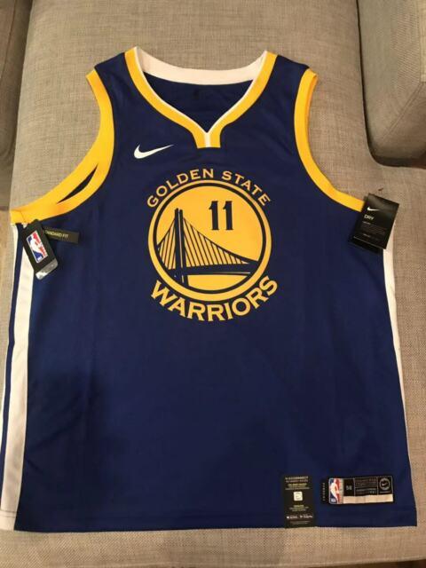 hot sales 19293 fed12 Nike NBA Swingman Jersey Golden State Warriors Klay Thompson Icon Blue Mens  2xl