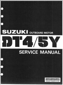 1985 1986 1987 1988 1989 1990 suzuki dt4 outboard motor service.
