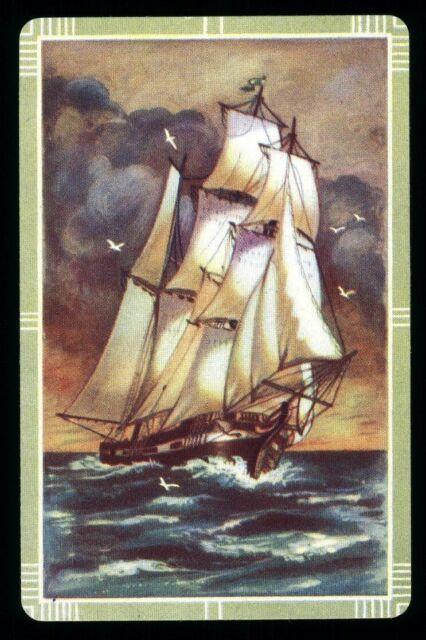 Sail Boats Sailing Vintage Lot of 7 Single Swap Trading Playing Cards