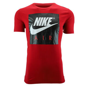 Nike-Men-039-s-Air-Graphic-T-Shirt-Red-Black-M