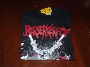 Berserkerfox-Rock-Band-T-Shirt-SIZE-SMALL-Melbourne-Death-Metal-Band