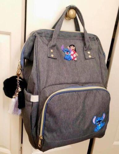 Custom Made Order Lilo Stitch Back Pack Changing Bag Disney Grey