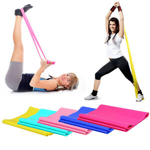 1-2m-Elastic-Yoga-Pilates-Rubber-Stretch-Exercise-Band-Arm-Back-Leg-Fitness-ls