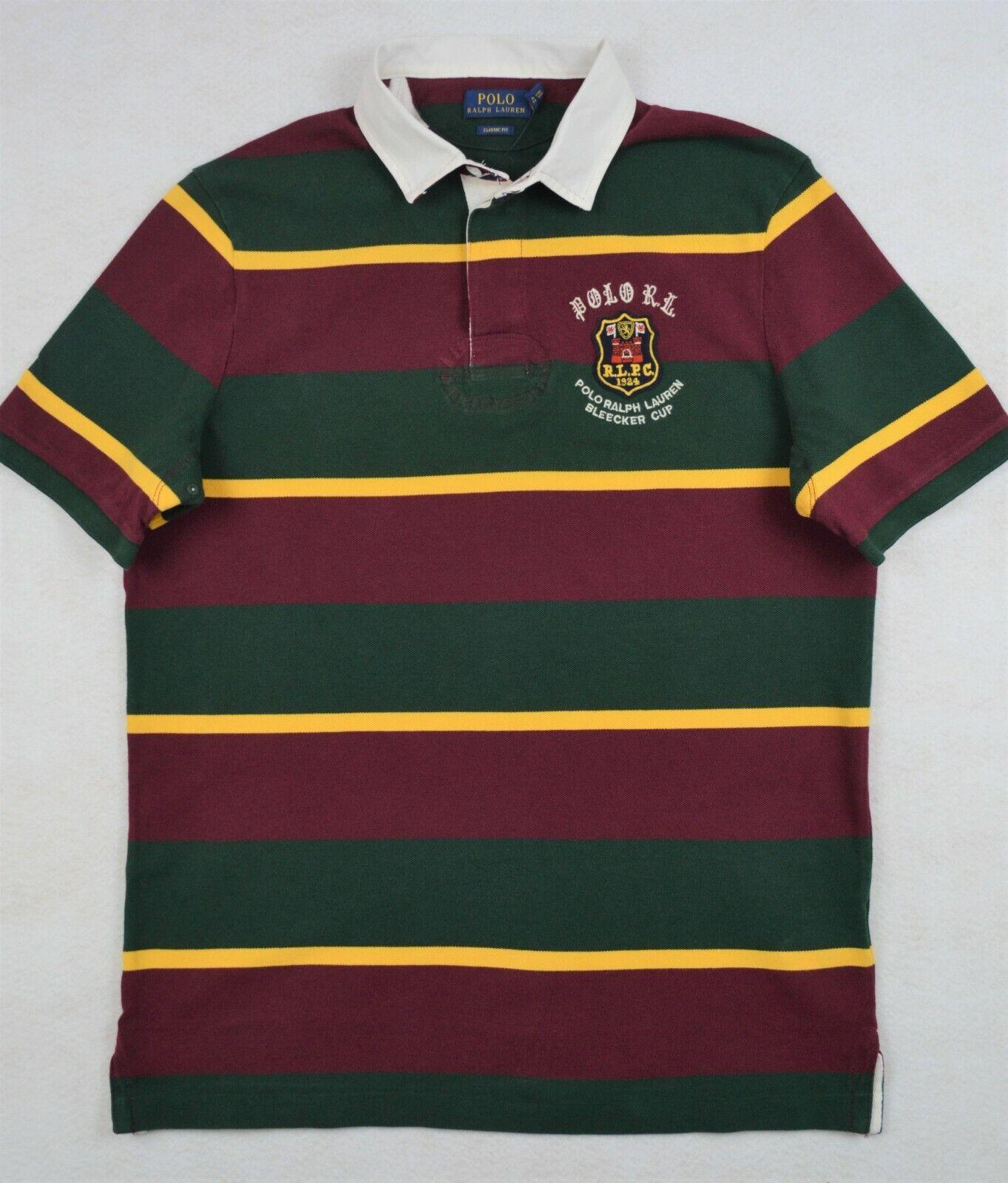 Polo Ralph Lauren Rugby Crest Mesh Stripe Shirt S & M NWT