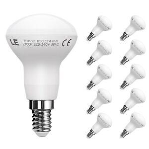 LE-10er-6W-R50-E14-LED-Reflektor-Lampen-450lm-Birnen-Leuchtmittel-Warmweiss