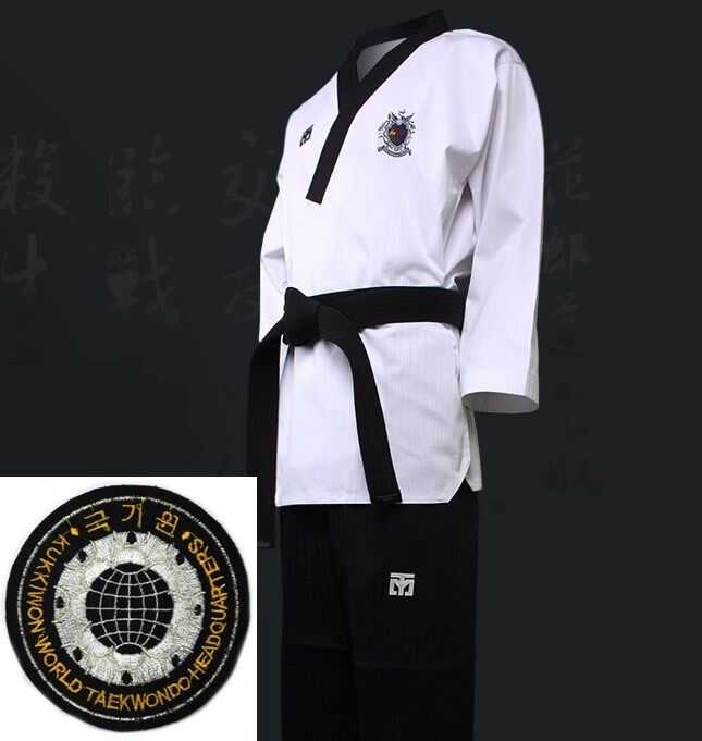 Mooto WTF Poomsae Dan Uniform Male Dobok Kukkiwon Korean Taekwondo Tae Kwon Do