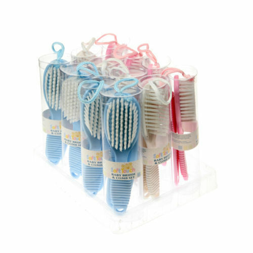 ,Luxury Baby Brush Set In Pink Blue And White Trusted UK Seller