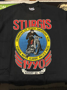 Sturgis-50th-Anniversary-t-shirt-XL-Sturgis-Motor-Works-NEW