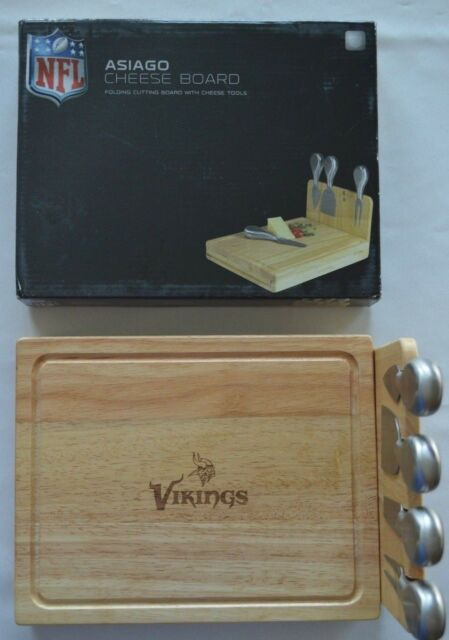 NEW Asiago Folding Cheese Board with Cheese Tools NFL Minnesota Vikings RC 5af5737e5