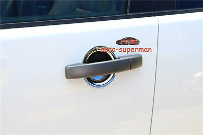 Bright Chrome door handle cup bowls For Land rover LR4 Discovery 4 2010-2016