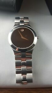 Movado Museum  mens watch used good condition serviced works