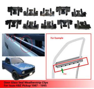 10-X-Door-Glass-Seal-Weatherstrip-Clips-Use-Isuzu-KBZ-Pickup-1987-1995