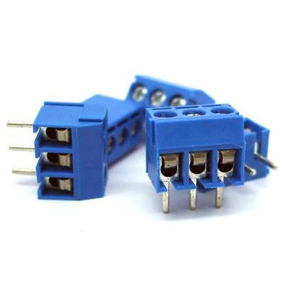 5X morsetti a 3 poli passo 5mm 250v 10 amp da circuito stampato