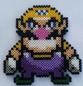 Details About Wario Mario Bead Sprite Perler Pixel Art Perles à Repasser