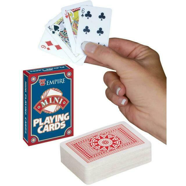 """Mini Poker Playing Cards 2.5/"""" X 1.5/"""" Plastic Coated Cards"""