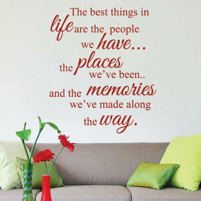 The Best Things in Life Art Wall Sticker Quotes Wall Decals Wall Decorations