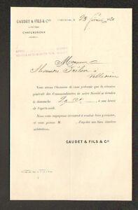 """CHATEAUROUX (36) BANQUE """"GAUDET & Fils"""" en 1880 - France - État : Occasion : Objet ayant été utilisé. Consulter la description du vendeur pour avoir plus de détails sur les éventuelles imperfections. Commentaires du vendeur : """"CORRECT"""" - France"""