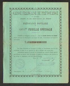 PARIS-IX-BANQUE-034-CAISSE-FRANCAISE-DE-PREVOYANCE-034-Obligation-en-1895