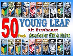 50 pack Wakaba Japan Treefrog Young Leaf Air freshener ,Assorted or Mix & Match