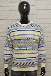 Maglione-STEFANEL-Uomo-Taglia-Size-XL-Felpa-Pullover-Sweater-Man-Cotone-Vintage