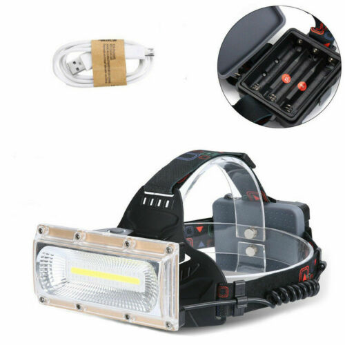 Hell 30W LED Stirnlampe Kopflampe Headlamp Jogging Licht Camping Angeln USB Q3W4