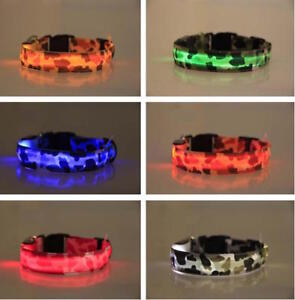 USB-RECHARGEABLE-LED-CAMO-COLLAR-Camouflage-Pet-Dog-Glow-Flashing-Light-Safety