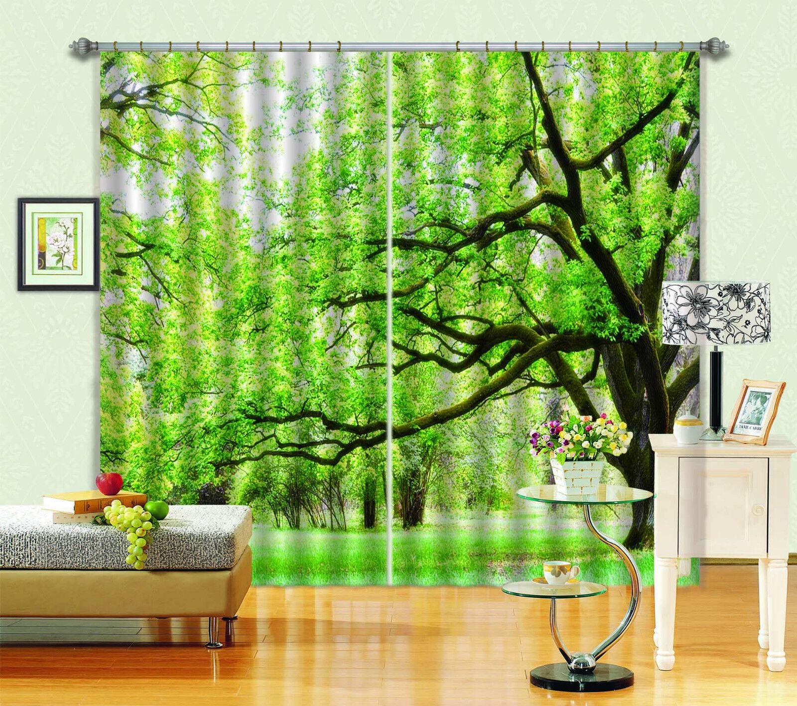 3D árbol ramas Blockout impresión de fotografías Cortina Cortina Ventana De Tela Cortinas CA